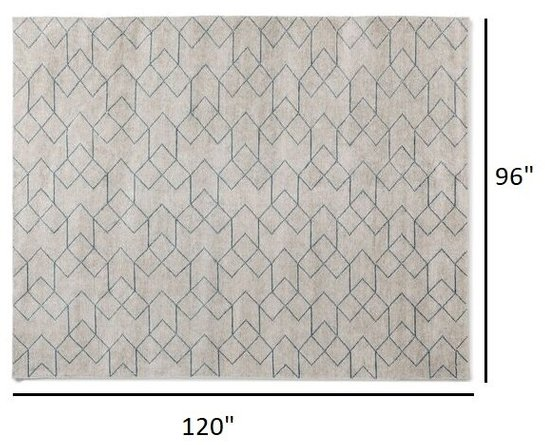 Article Polygon Rug 8 X 10 Cloud White