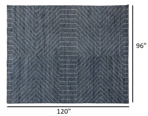Article Parallel Rug 8 X 10 Wave Blue