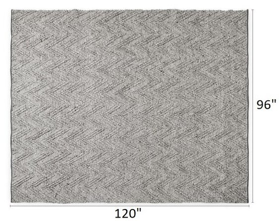 Article Vee Rug 8 X 10 Metal Gray