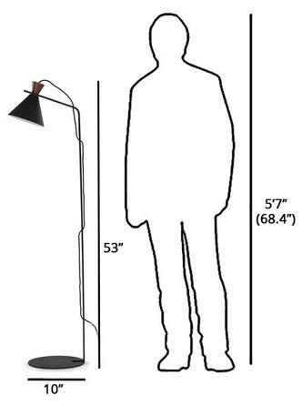 Article Copen Floor Lamp Black