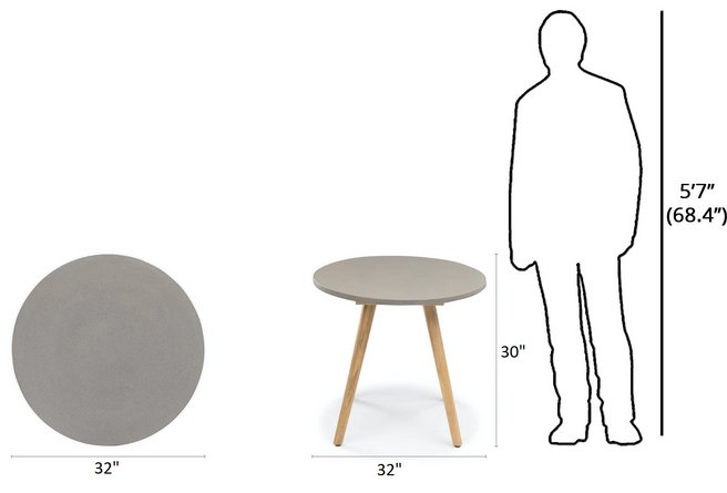 Article Atra Round Cafe Table Concrete
