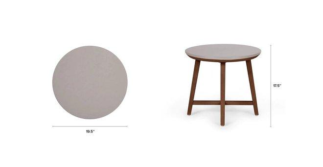 Olen Walnut Side Table Walnut And Concrete