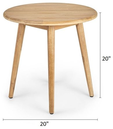 """Article Nivos 20"""" Side Table Natural"""