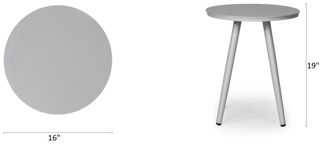 """Article Halden 16"""" Round Side Table Light Gray"""