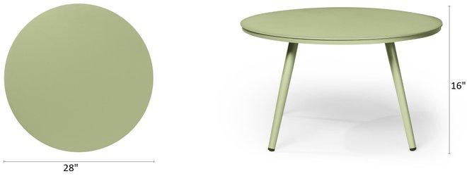 "Article Halden 28"" Round Side Table Fern Green"