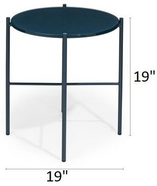 Article Silicus Side Table Navy