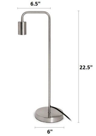 Beacon Contemporary Table Lamp Nickel