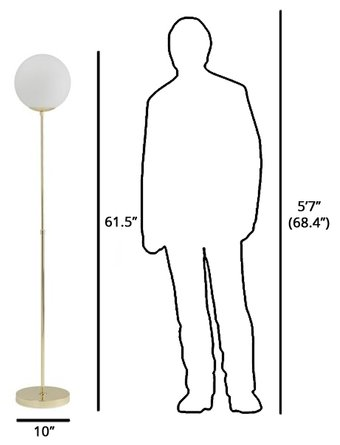 Article Moon Floor Lamp Gold
