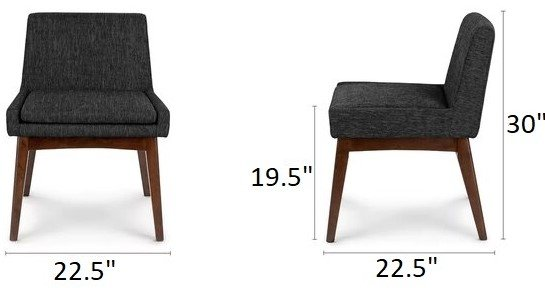 Article Chanel Modern Low Back Dining Chair Licorice  (Set of 2)