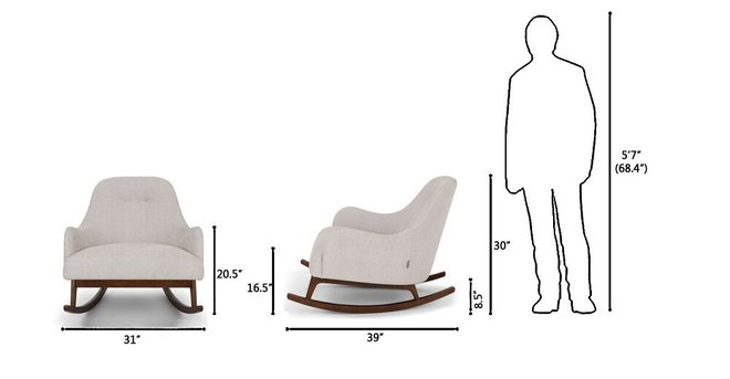 Article Embrace Fabric Rocking Chair Coconut White