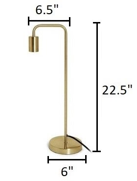 Beacon Contemporary Table Lamp Brass