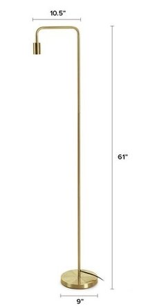 Article Beacon Floor Lamp Brass