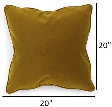 Article Lucca Velvet Pillow Yarrow Gold (Set Of 2)