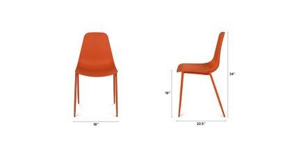 Groovy Svelti Contemporary Dining Chair Orange Set Of 2 Camellatalisay Diy Chair Ideas Camellatalisaycom