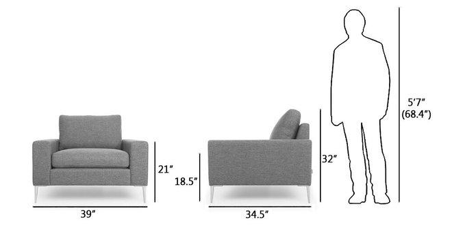 Article Nova Lounge Chair Gravel Gray