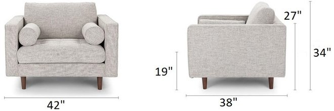 Article Sven Tufted Fabric Chair Birch Ivory