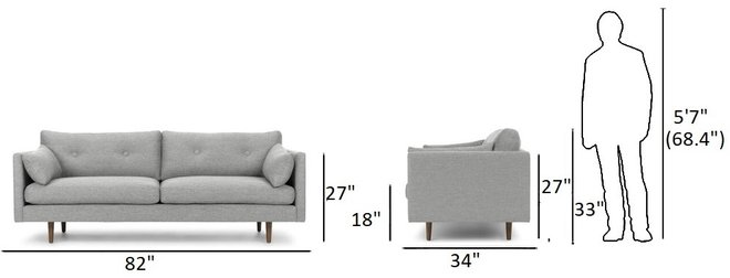Anton Sofa Winter Gray