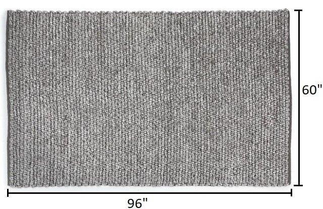 Article Hira Rug 5 X 8 Metal Gray