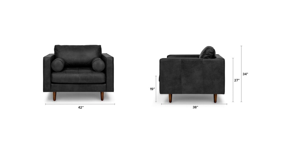 Sensational Sven Mid Century Modern Tufted Chair Oxford Black In Ny Nj Ibusinesslaw Wood Chair Design Ideas Ibusinesslaworg
