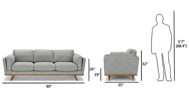 Article Timber Mid-Century Modern Sofa Pebble Gray