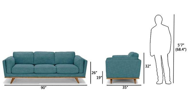 Timber Mid-Century Modern Sofa Blue