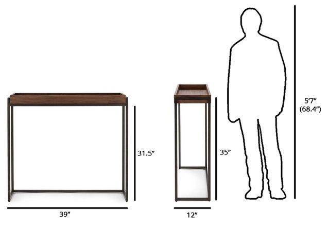 Oscuro Contemporary Console Table Walnut