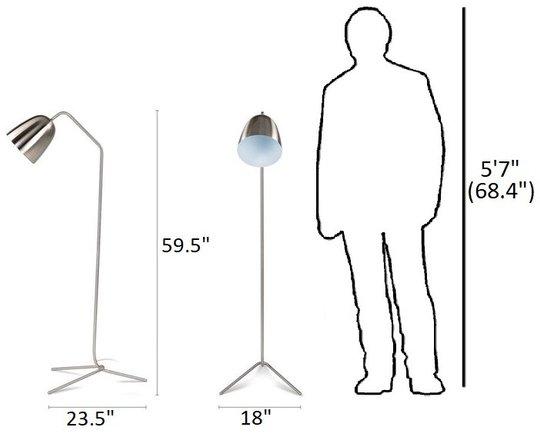 Article Cado Floor Lamp Nickel