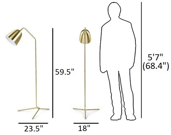 Article Cado Floor Lamp Gold