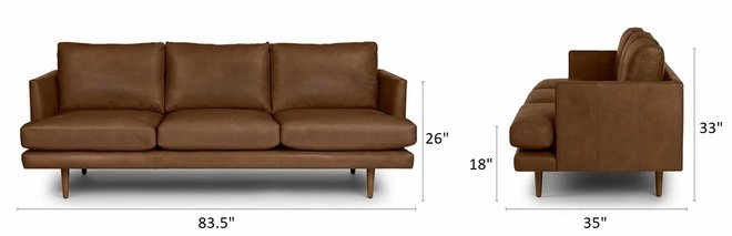 Article Burrard Mid-Century Modern Sofa Bella Tan