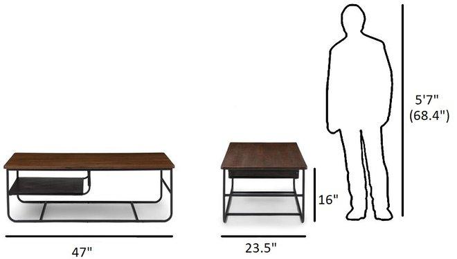 Maggi Contemporary Coffee Table Walnut