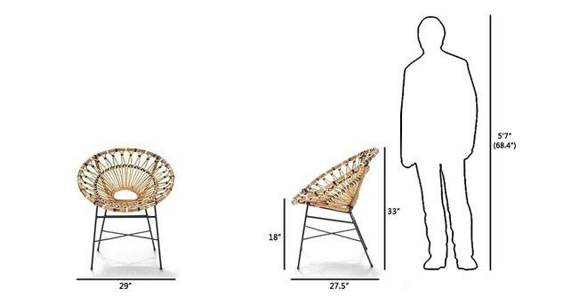 Article Daisy Mid-Century Modern Armchair Light Oak