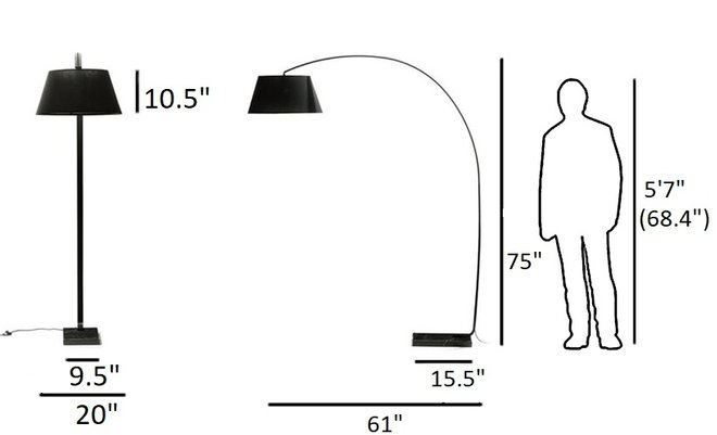 Article Willo Floor Lamp Black