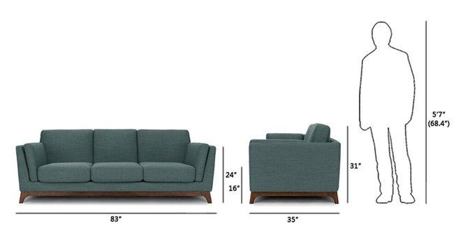 Article Ceni Mid-Century Modern Fabric Sofa Aquarius Aqua