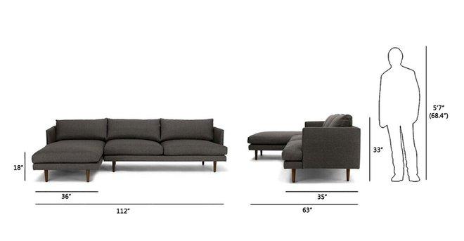 Article Burrard Left Sectional Sofa Graphite Gray