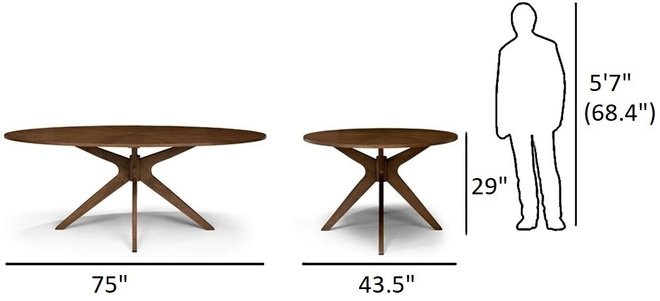 Article Conan Dining Table Oval Walnut