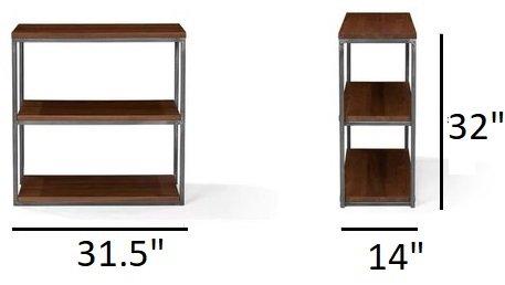 "Article Archive Modern 32""H Bookcase Walnut"