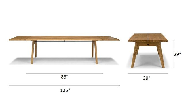 Article Madera Dining Table Extendable Oak