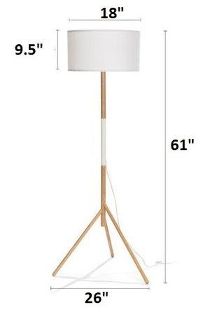 Article Stilt Floor Lamp White