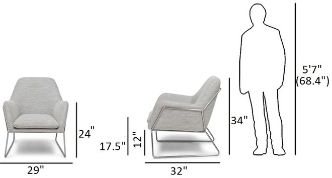 Article Forma Armchair Galaxy Gray