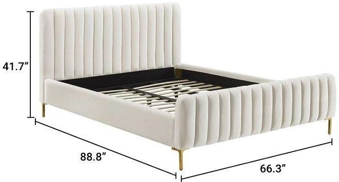Angela Queen Bed Cream