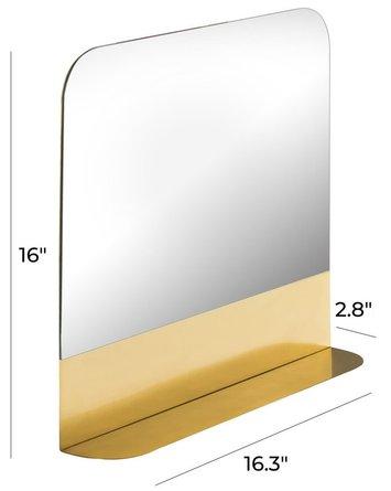 Trigg Square Mirror Gold