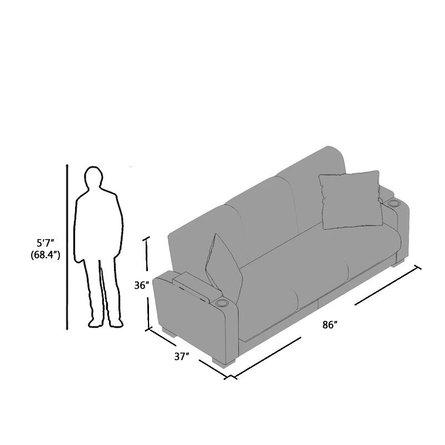 Acubens Convertible Sleeper Sofa Brown