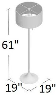 MacDougal Floor Lamp White