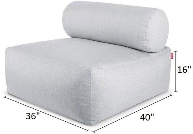Tsjonge Jonge Lounge Silver Base And Silver Backrest