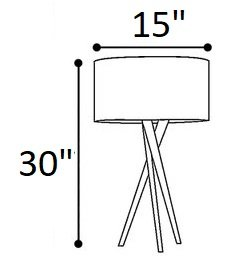 "Hayle 30"" Tripod Table Lamp Walnut"