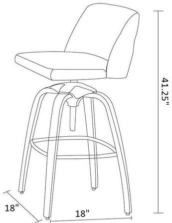Autaugaville Adjustable Height Bar Stool Gray (Set of 2)