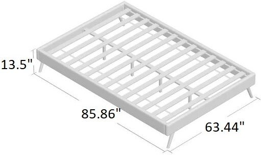 Bowser Upholstered Platform Queen Bed Dark Gray