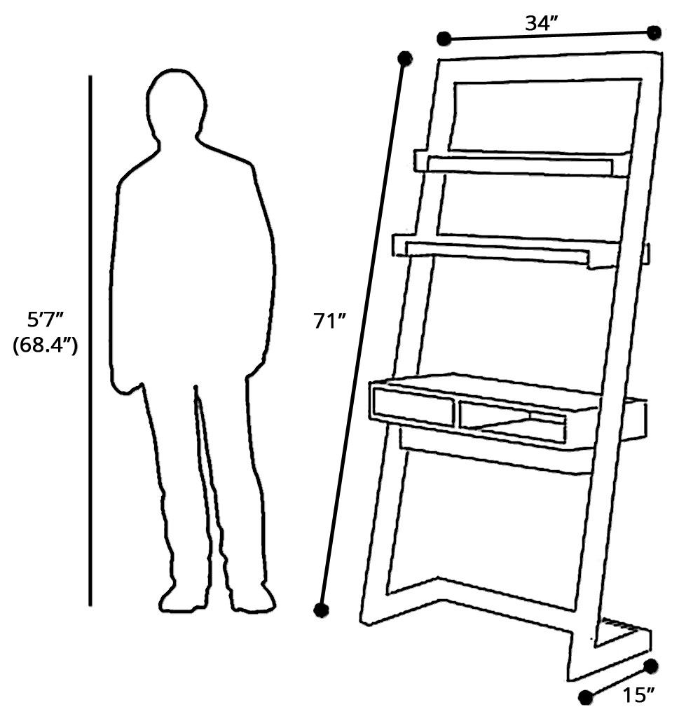 Rent In San Francisco Bay Area: Rent Albe Ladder Desk White/Gray