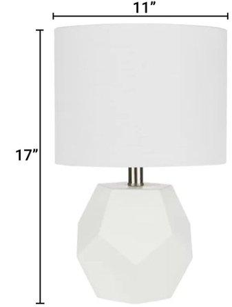 Mallen 17'' Table Lamp White