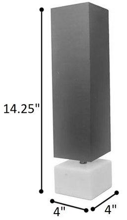 """Deckerville 14.25"""" Accent Table Lamp Plum"""